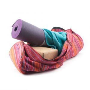 Yogamat Tas Katoen Roze Gestreept