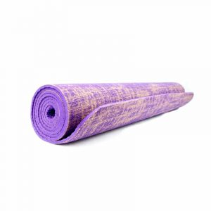 Yogi & Yogini Yogamat Jute Paars 5 mm - 185 x 63 cm