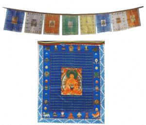 Gebedsvlaggen Boeddha's