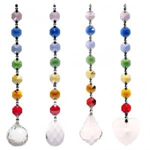 Set van 4 Feng-Shui Chakrakristallen
