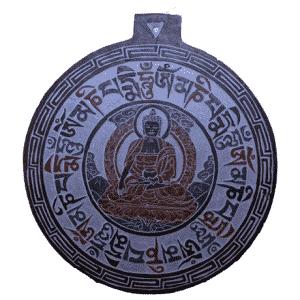 Leisteen Reliëf Boeddha OMPMH
