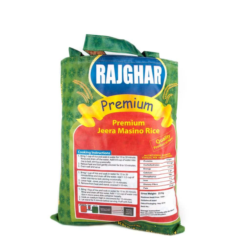 zak rijst india