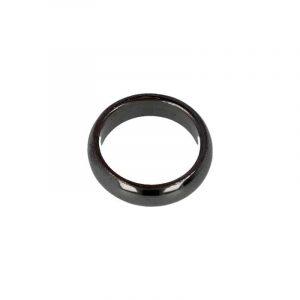 Edelstenen Ring Hematiet (6 mm - Maat 20)