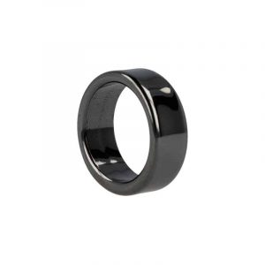 Edelstenen Ring Hematiet Plat (8 mm - Maat 20)