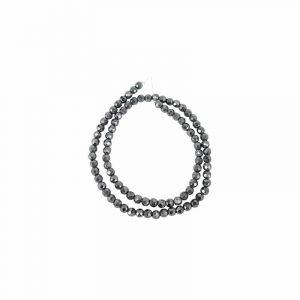 Kralen Streng Hematiet Facet Magnetisch (4 mm)