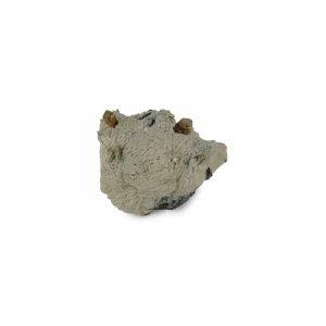 Ruwe Edelsteen Topaas en Rookkwarts in Bariet en Calciet (Model 259)