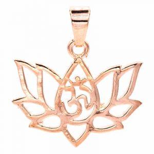 Hanger Lotus Messing Roze Goudkleur
