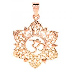 Hanger Ohm Lotus Roze Goudkleur