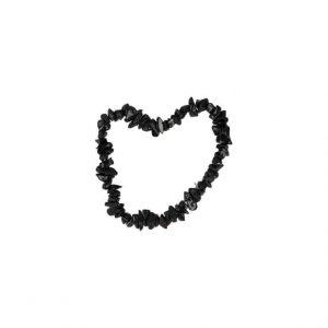 Edelsteen Splitarmband Zwarte Toermalijn - 13 cm