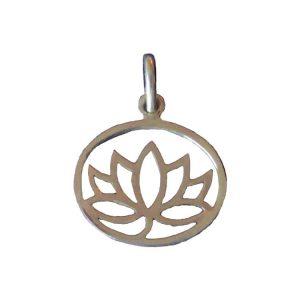 Zilveren Hanger Lotus (Groot)