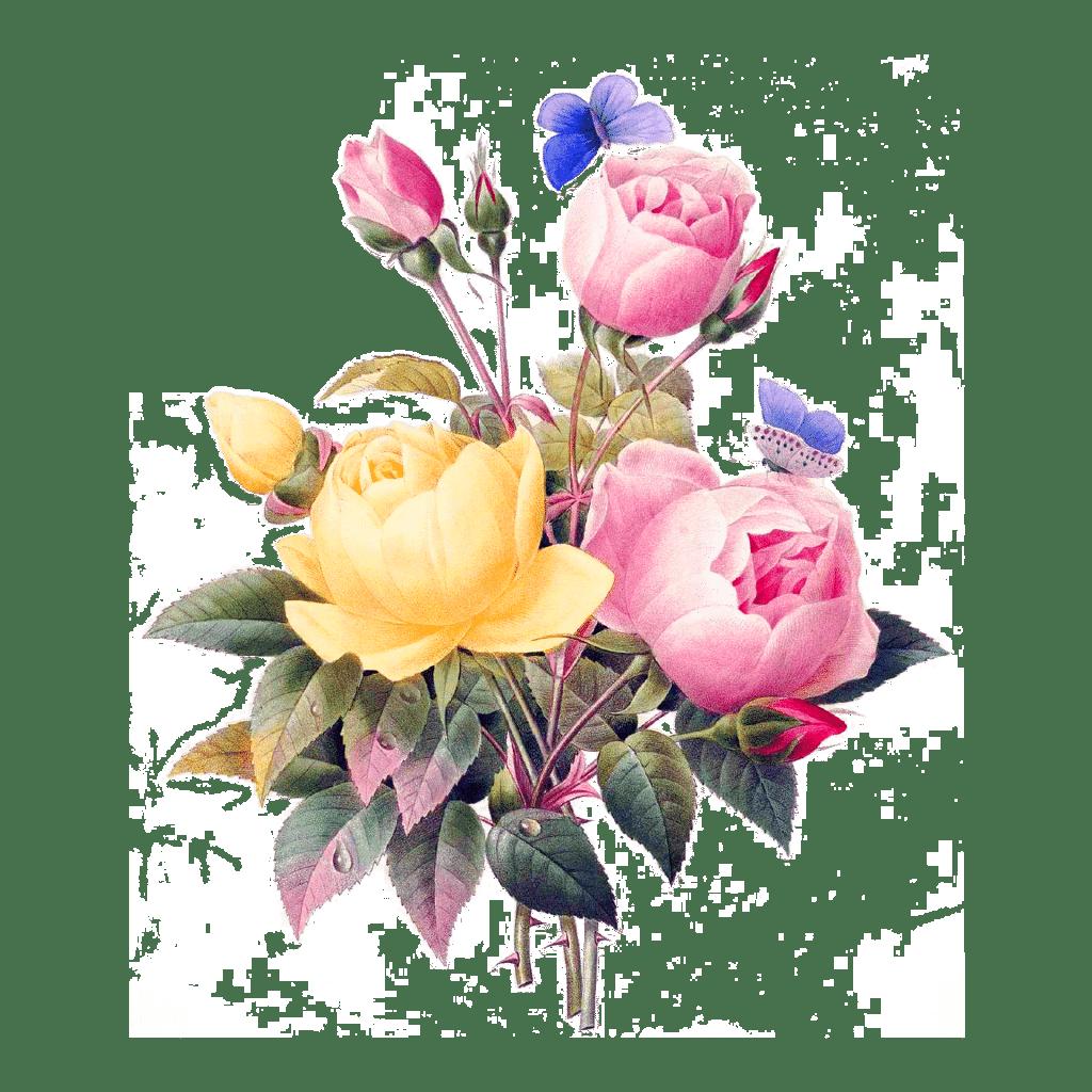 boeket bloemen met vlinders florida water