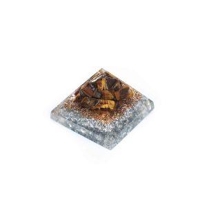 Orgonite Piramide Mini Tijgeroog (25 mm)