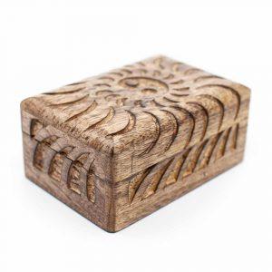 Opbergdoos Duurzaam Hout Yin Yang Handgemaakt (15 cm)