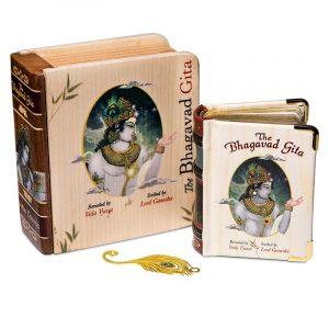 Bhagavad Gita in Houten Geschenkverpakking