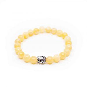Edelsteen Armband Calciet met Boeddha