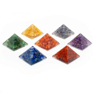 Orgonite Piramide Mini - Set van 7 - (25 mm)