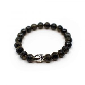 Edelsteen Armband Labradoriet met Boeddha