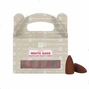 Satya Backflow Wierook Kegels Witte Salie (24 kegels)