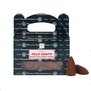 Satya Backflow Wierook Kegels Palo Santo (24 kegels)
