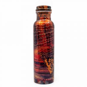 Spiru Koperen Waterfles Grunge geprint - 900 ml