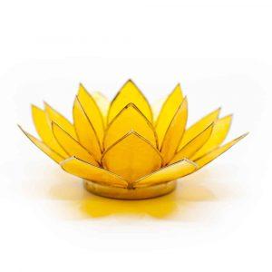 Lotus Sfeerlicht Geel 3e Chakra Goudrand