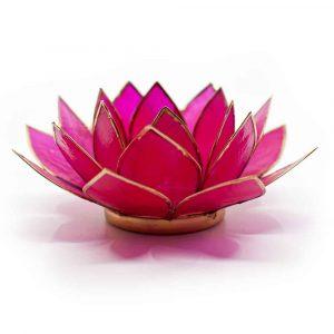 Lotus Sfeerlicht Fuchsia Goudrand