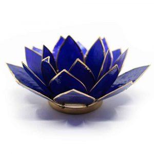Lotus Sfeerlicht Indigo 6e Chakra Goudrand
