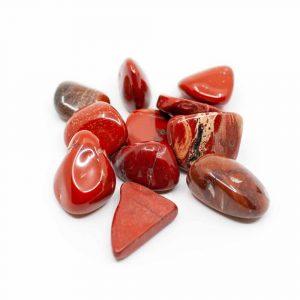 Trommelstenen Rode Jaspis (20 to 40 mm) - 200 gram