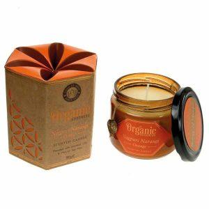 Geurkaars van Soja Was Organic Goodness Orange