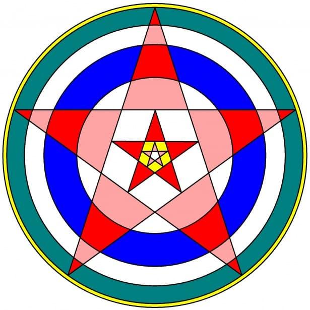 pentagram symbool kleur