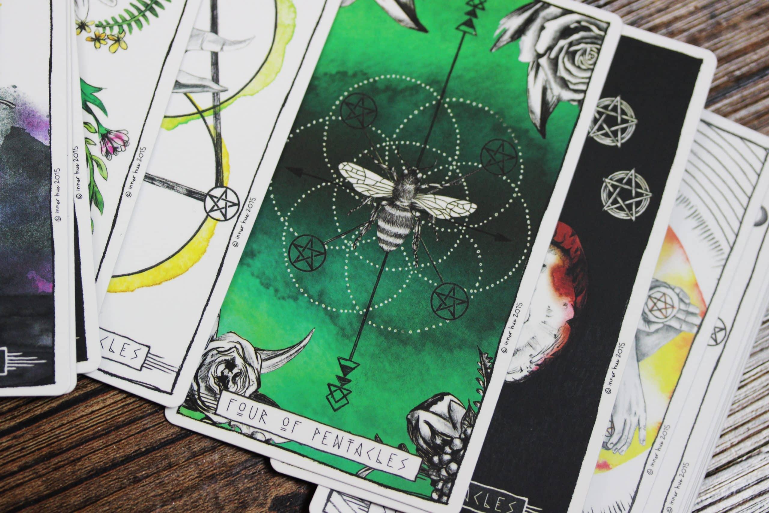 pentagram pentakels op tarot kaart
