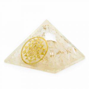 Orgonite Piramide Seleniet - Sri Yantra - (40 mm)