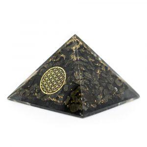 Orgonite Piramide Pyriet - Flower of Life - (70 mm)