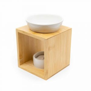 Luxe Aromabrander Hout - Wit