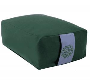 Yogi & Yogini Meditatiekussen Rechthoekig Katoen Groen - 4e Chakra - 38 x 28 x 15 cm