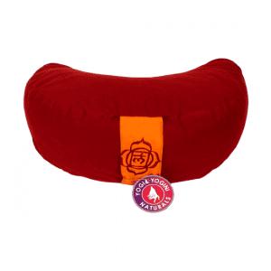 Yogi & Yogini Meditatiekussen Rood Halve Maan Katoen - 1e Chakra - 33 x 13 cm