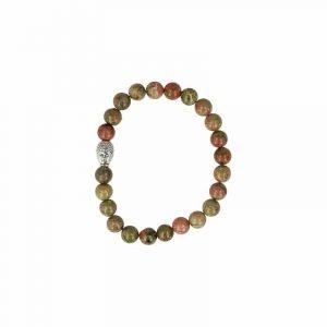 Edelsteen Armband Unakiet met Boeddha