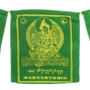 Tibetaanse Gebedsvlaggen Groene Tara