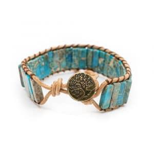 Edelsteen Armband Bohemian Blauw met Tree of Life