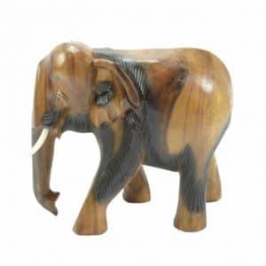 Houten Beeld van Olifant (15 cm)