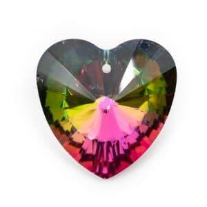 Regenboogkristal Hartvorm Multikleur (40 mm)