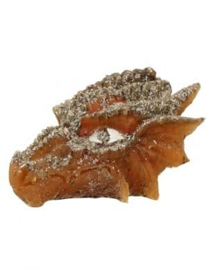 Orgonite Draken Schedel Geel-Oranje