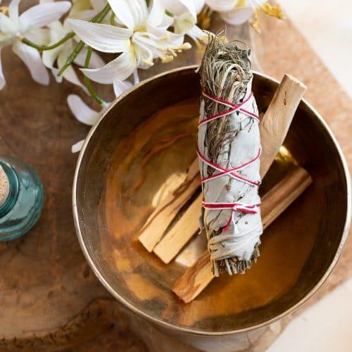 Witte Salie & Rozemarijn Smudge Stick (ca. 8 - 10 cm)