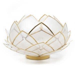 Lotus Sfeerlicht Naturel Goudrand - Groot