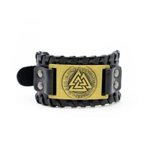 Viking Verstelbare Armband Valknut Kunstleer