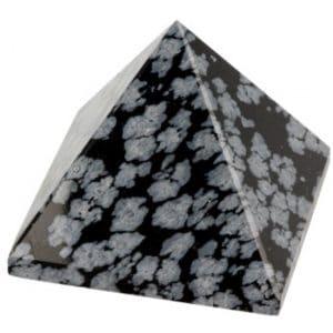 Obsidiaan Sneeuwvlok Piramide (30 mm)