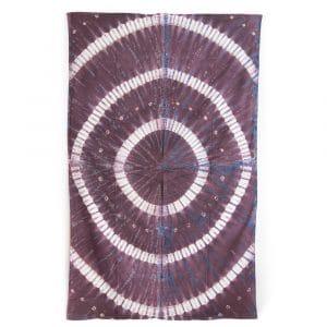 Authentiek Wandkleed Katoen met Ringen (215 x 135 cm)