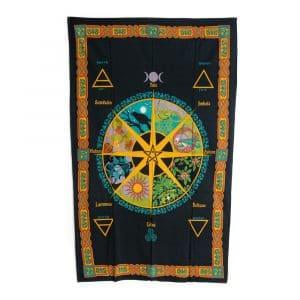 Authentiek Wandkleed Katoen met Keltische Kalender (215 x 135 cm)