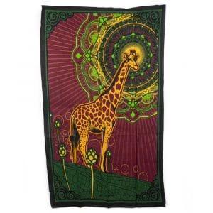 Authentiek Wandkleed Katoen Giraffe (215 x 135 cm)