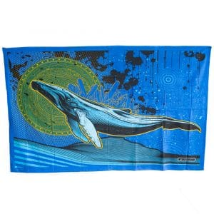 Authentiek Wandkleed Katoen Vliegende Walvis (215 x 135 cm)
